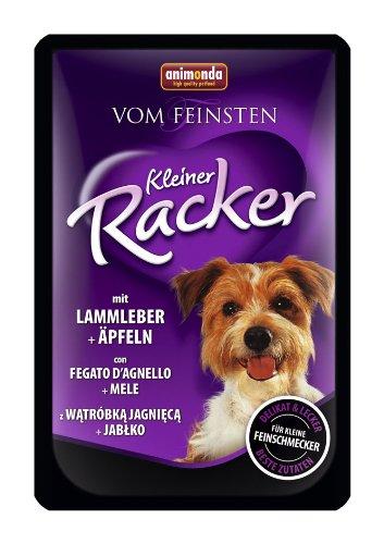 animonda Vom Feinsten Kleiner Racker Nassfutter, für ausgewachsene Hunde von 1-6 Jahren, mit Lammleber und Äpfeln, 16er Pack (16 x 85 g)