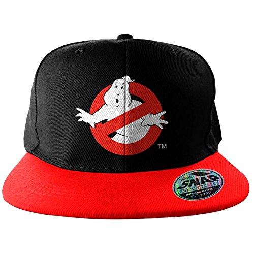 Officia Schwarz Ghostbusters Logo gestickte Snapback Baseball Kappe Hat