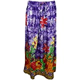 Womans Long Skirt Fiesta Elephant On Trail Purple Sexy Flare Skirts S/M
