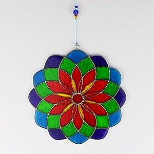 Fensterdeko Mandala aus Resin grün, lila | Fenster Deko zum Aufhängen | Sonnenfänger | Fensterschmuck Geschenkidee