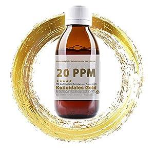 Kolloidales Gold 20PPM Goldwasser 1000ml – hoch konzentriert (Reinheitsstufe 99,99%) (1000ml)