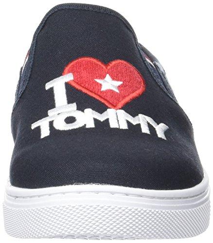 Tommy Hilfiger V1285enus Hg 10d1, Sneakers Basses Femme Bleu (Midnight 403)
