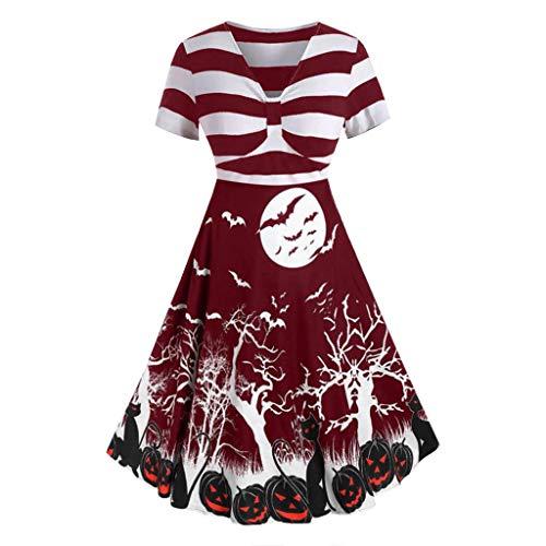 kolila Halloween Damen Kleid 1950 Vintage Stitching