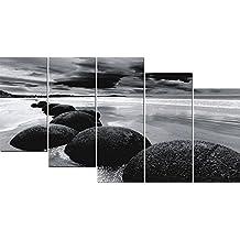 DekoArte 12 - Cuadro moderno, Paisaje Piedras, 150 x 80 cm
