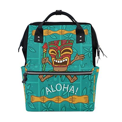 Mumienschlafsack Windel Tote Staubbeutel mehr Kapazität Baby Wickeltasche Aloha Happy Man Tribal Maske muti-function Reise Rucksack (Baby Maske Happy)