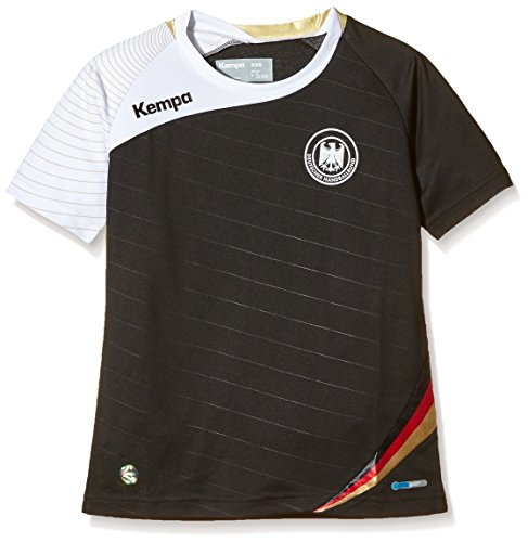 Kempa DHB Auswärtstrikot, Schwarz/Weiß/Gold, XXL, 2003030021630