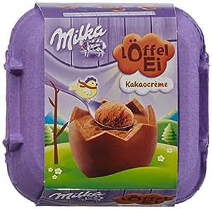 Milka Löffel-Ei, Kakaocrème, Schokoladeneier, 136g, 2er Pack (2 x 136 g)