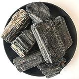 AITELEI Pietra Minerale Naturale da 1 lb di tormalina Nera Pietra Grezza Grezza Originale Rocciosa da Collezione Pietra curativa del Campione Pietra Minerale per burattatura, Wicca Reiki