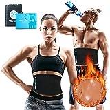 Sports Laboratory ® Bauchweggürtel für Gewichtsverlust für Männer & Frauen Schwarz Verstellbar Bis Zu Eine Größe Passt Meistens mit kostenlosem Bag & Guide