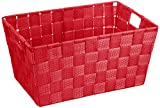 Wenko 20384100 Adria Corbeille Salle de Bain Rouge S