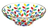 CENTROTAVOLA LAURUS Schale Tafelaufsatz Kristall Hand Bemalt Farben Tradition Venedig