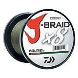 Daiwa j-Braid 1500m 8Woven rund Braid Line, Unisex, dunkelgrün