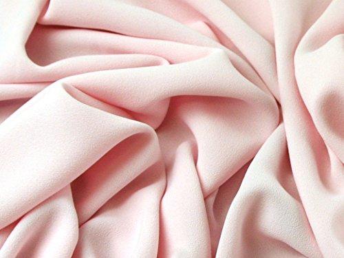 Schwere Dreifach Crepe Kleid Stoff Puder Pink-Meterware + Craft Guide -