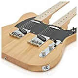 Guitare électrique Double-Manche Knoxville par Gear4music Naturel