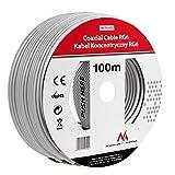 Maclean MCTV-572 SAT-Antennenkabel 100m de los cables coaxiales RG6 1.0CSS TV por cable