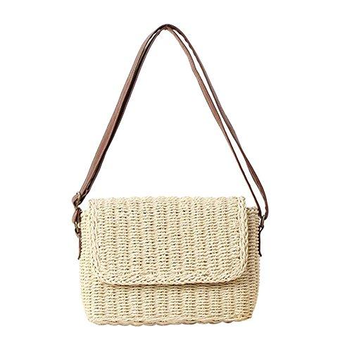 Damen Tasche Retro Taschen Sommer Handtasche Mini Strandtasche Modern Tote Bag Geflochten Taschen Frauen für Einkaufen, Strand, Partys, Reisen. Durch Futurepast -