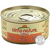 Set 24Almo Nature Katze 5105Dose 70Kitten Junior Nahrung für Katzen