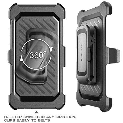 Coque SUPCASE pour iPhone 5S [ Serie Unicorn beetle Pro ] Modele hybride avec etui clip ceinture, protecteur d'ecran, conception double couche + bumper resistant aux chocs ( Blanc/Gris ) Blanc/Gris