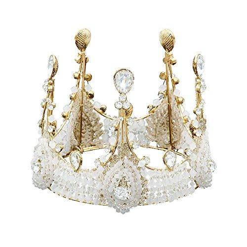 krone prinzessin Cake Topper Reine handgemachte Retro Spitze große Krone Kuchen backen Dekoration für Geburtstage, Hochzeiten, Prinzessin Themed Parties