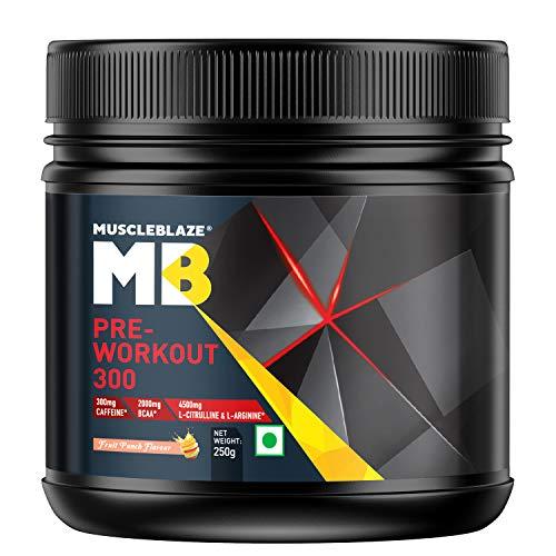 MuscleBlaze Pre-Workout 300, 0.55 lb, Fruit Punch (31 Servings)