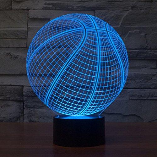 ampe, kreative Led Basketball Tischlampe Sieben Farbe Touch Visuelle Lichter Hochzeit Dekoration USB Insert Valentinstag Tischlampe Touch Switch neu ( größe : 214*170*87mm ) (Licht Basketball)