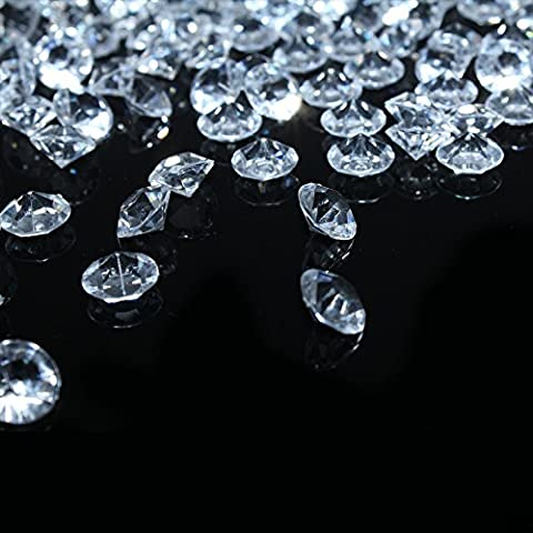 Bitfly 500 pc/lot 10mm Scatter Table Crystals Acrylic Diamonds Crystals for Party Supplies Decorations Costume Stage Props Vase Fillers Wedding Decorations