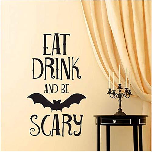 en Beängstigend Zitate Wandaufkleber Halloween Party Decals Home Raumdekoration Wandaufkleber Abnehmbare Diy Wandaufkleber ()