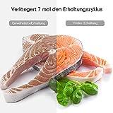 Vakuumiergerät,Ymiko Mini Vakuumierer,Lebensmittel bleiben bis zu 8x länger Frisch,30cm lange Schweißnaht,einfach zu bedienen,inkl.20 gratis Profi-Folienbeutel,Schwarz-Weiß - 4