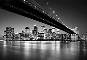 fototapete lower brooklyn bridge schwarz weiss. Black Bedroom Furniture Sets. Home Design Ideas