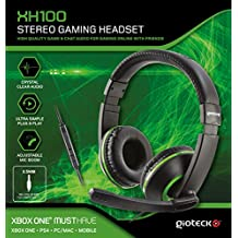 Gioteck - XH-100 Gaming Stereo Headset, Color Verde (Xbox One)