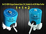 #10: Pokar RO, HERO 36V DC Solenoid Valve 2 Pcs ( 1 + 1 =2 pcs ) Push Fit 1/4 (6mm) Tubing ( Pipe) Size , Suitable For all RO Water Purifier