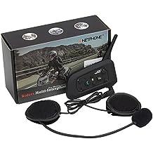 Intercomunicador Bluetooth V6 / Impermeable Auricular 1200M de Casco de Motocicleta