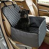 Dog Seat Cover für Autos, JIM'S STORE 2 in 1 Foldable & Waterproof & Anti-Rutsch-Hund Single Vorne Sitz Matte Protector Pet Schaufel Sitzbezug (Grau)