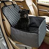JIM'S STORE Dog Seat Cover für Autos, 2 in 1 Foldable & Waterproof & Anti-Rutsch-Hund Single Vorne Sitz Matte Protector Pet Schaufel Sitzbezug (Grau)