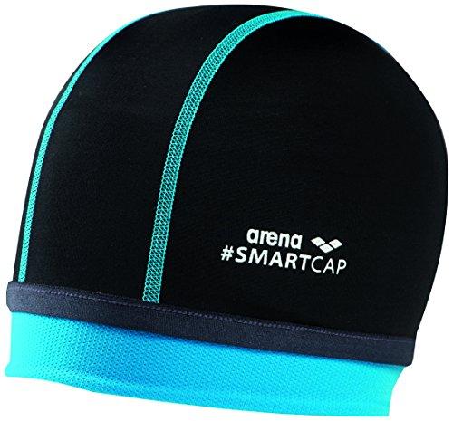 arena Kinder Unisex Badekappe Smartcap Junior (Extraweich, Perfekt für lange Haare), Black (500), One Size