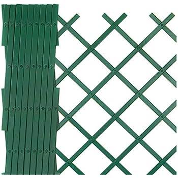 Grigliati In Plastica Per Giardino.Sti Traliccio In Plastica Verde Grigliato Estensibile 100x100 Cm