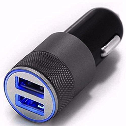 Jintime Universal in Auto Adapter Stecker Mini Dual USB 2.1A/24 Watt 2 Port 12 V Auto Zigarettenanzünder Schnell Ladegerät für iPhone/Samsung (Iphone-zigarettenanzünder-adapter)