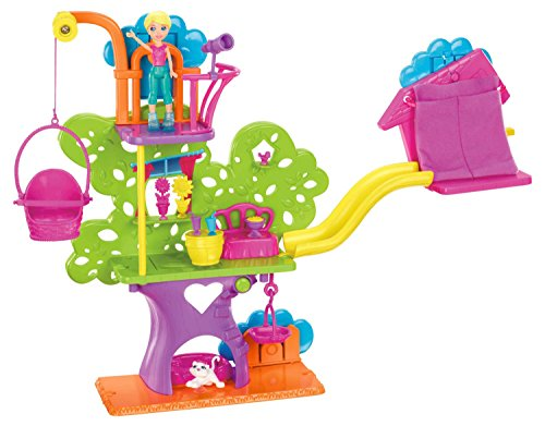 Polly Pocket - Casita del árbol Wall Party, accesorios para muñecas (Mattel Y7113)