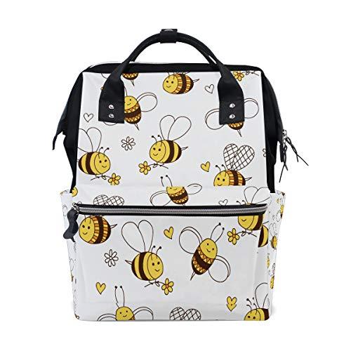 Hartes Arbeiten Little Honey Bee Große Kapazität Windel Taschen Mummy Rucksack Multi Funktionen Wickeltasche Tasche Handtasche Für Kinder Babypflege Reise Täglichen Frauen (Bee Dekorationen Honey)