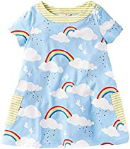 VIKITA Vestito Manica Lunga Striscia T-Shirt Cotone Bambine e Ragazze 1-8 Anni