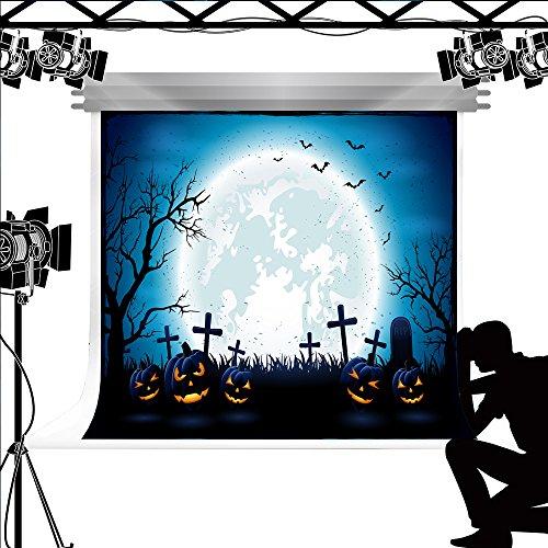 ergrund Halloween Kürbis Laterne Hintergrund Dark Moon Night Requisiten für Fond Studio 7x5ft (Photocall Halloween)