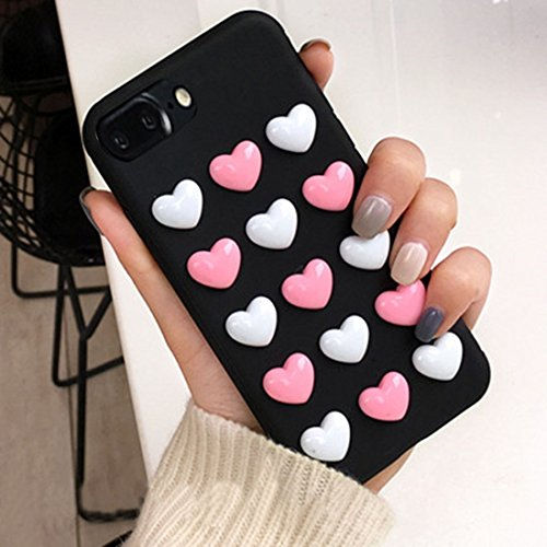YAN Für iPhone 7 Plus 3D Love Candy Full Coverage Schutzmaßnahmen Rückseite Cover Soft Case ( Color : Pink ) Black