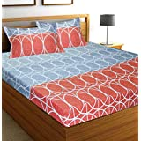 C&G 120 TC Microfiber Double 3D Printed Bedsheet (Pack of 1, Multicolor)