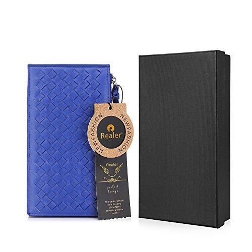 Portafogli per le donne Slim Bifold portafoglio porta carte di credito con chiusura a zip Blu reale
