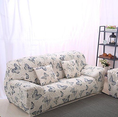Beddingleer elevata elasticità tessuto divano Slipcover divano copertura Protector three-seater, 190–233cm/74–228,6cm Style#2