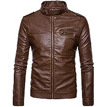 d4faad270 Cebbay Liquidación Chaquetas para Hombres Camisa de Entrenamiento Abrigo de  Cremallera de Moda con Cuello de