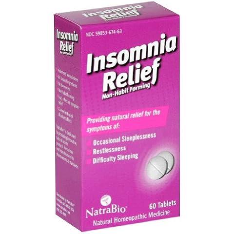 NatraBio - alivio de insomnio - 60 tabletas