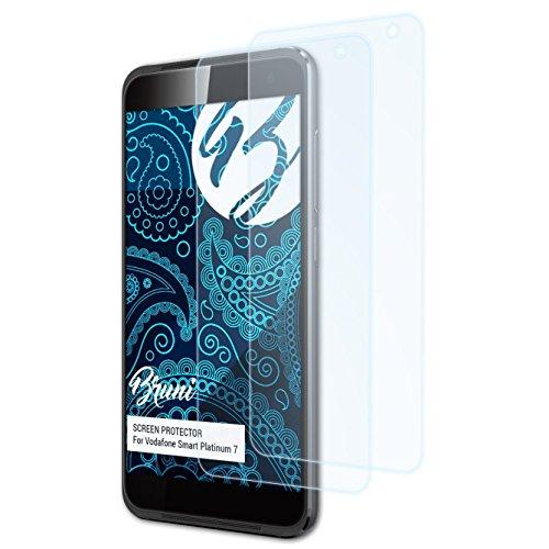 Bruni Schutzfolie kompatibel mit Vodafone Smart Platinum 7 Folie, glasklare Bildschirmschutzfolie (2X)