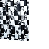 Ridder 42370S-350 Duschvorhang Textil ca. 180 x 200 cm, Swing schwarz inklusive Ringe