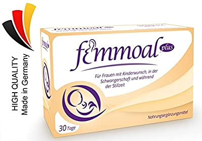 FEMMOAL PLUS Folic acid Pregnancy - Vitamins of Fertility to Lactation - Made in GERMANY - DHA, Omega-3, Iodin, Vitamin b12 & d - 60 Capsules from MOAB Pharma